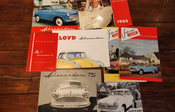 Lloyd collection brochures and the Fahr mit LLoyd magazine