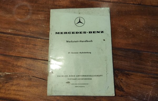 Mercedes-Benz garage manual for the ZF-Gremmer-Hydrolenkung