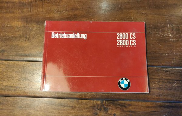 BMW 2800 CS (automatic) user manual
