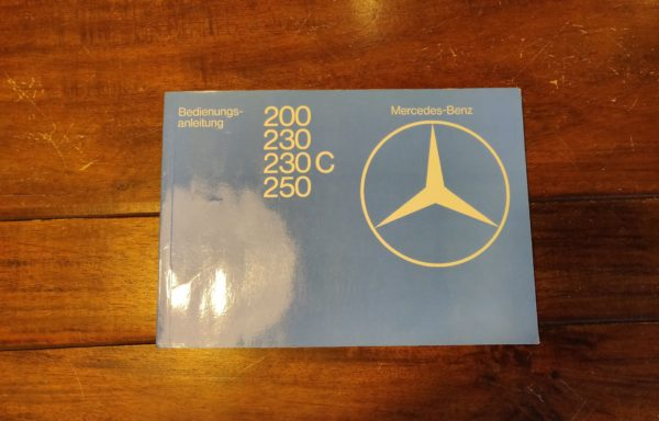 Mercedes-Benz user manual for MB 200, 230, 230 C and 250