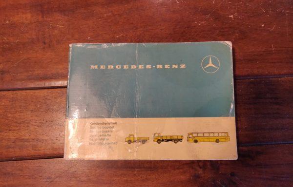 Mercedes-Benz kundendienst heft
