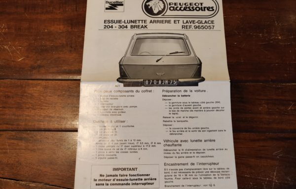 Peugeot 204-304 installation guide
