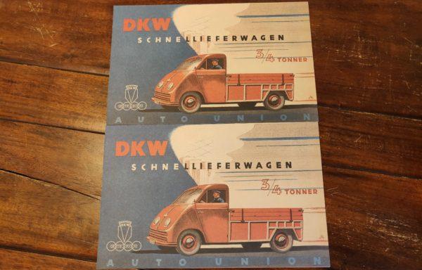 Autounion DKW Schnellieferwagen brochures