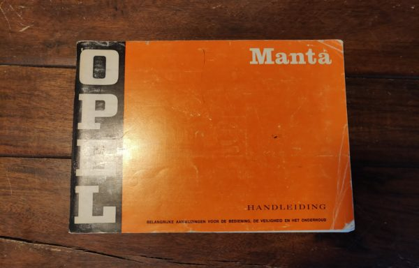 Opel manta instruction manual