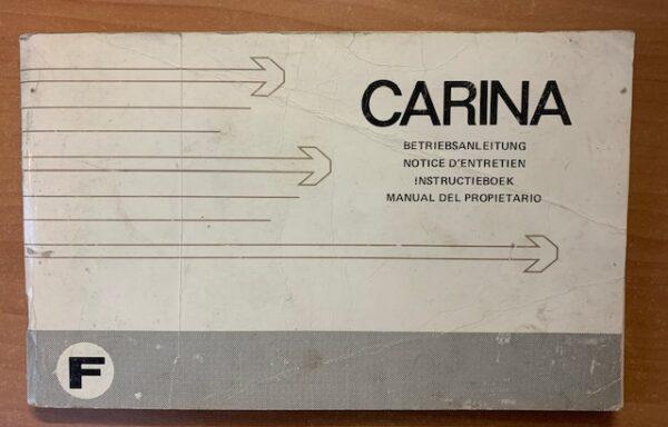 Toyota Carina instructieboek