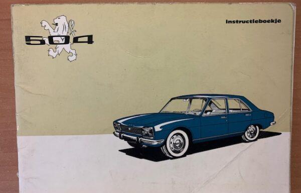 Peugeot 504 instructieboekje