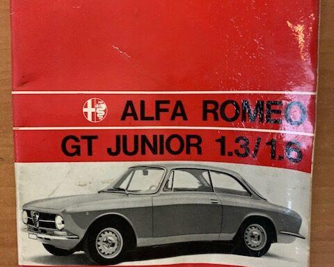 Alfa Romeo GT Junior 1.3/1.6 uso e manutenzione