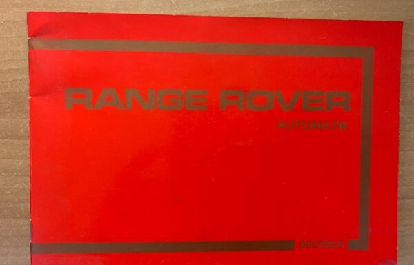 Range Rover bedienungsanleitung Deutsch