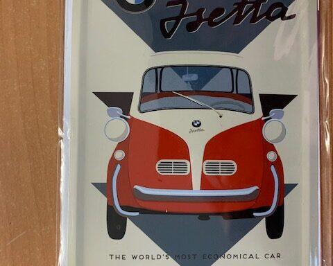 BWM Isetta metalen bordje