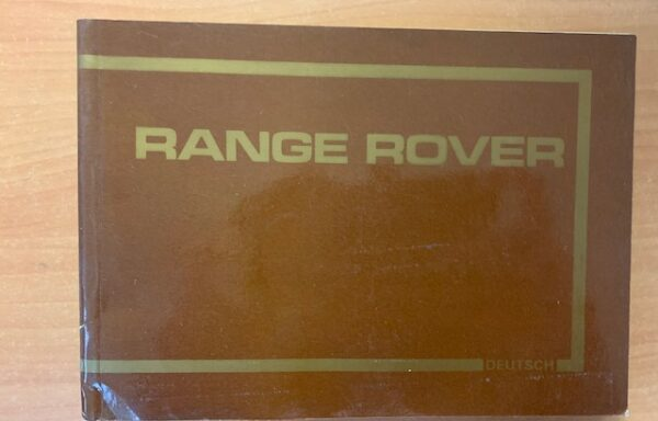Range Rover Duits handboek